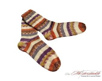 Socks hand-knitted size 40 striped socks