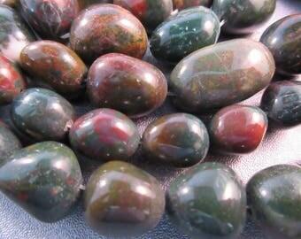Bloodstone Nuggets Beads 18pcs