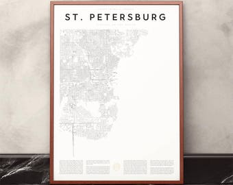 St. Petersburg Map Print