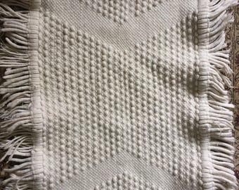 3' x 2' Rug // Bathroom Rug // Doormat // Small Rug Ivory Rug Boho Rug