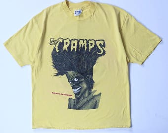 The Cramps Bad music for bad people Crewneck T-Shirt Size XL 46-48