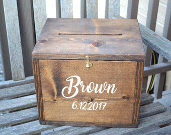 Wedding Card Box Large Rustic With Slot
