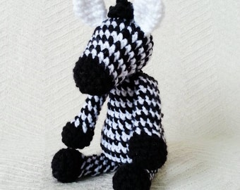 Zebra Baby Rattle/ Crochet Zebra/ Stuffed Animals for babies/ Amigurumi Zebra/ Stuffed Baby Toys/ Baby Shower Gift/ Crochet Animal