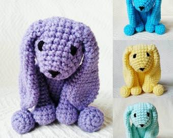 Easter Bunny Baby Rattle. Stuffed Animal Rabbit. Easter Rabbit. Stuffed Baby Toys. Baby Gift. Crochet Animal. Stuffed Woodland Animals.