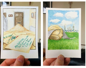Harry Potter Set of Four A6 Prints **Hand-written Envelope Optional**