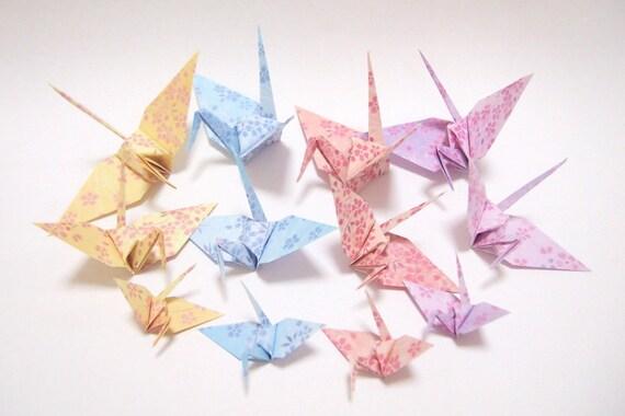 Origami Paper Cranes 50 Mix Size Origami Paper Cranes - photo#44