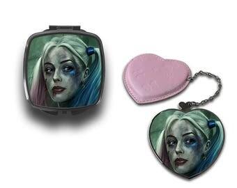 Harley Quinn Suicide Squad compatto trucco borsa specchio CM029