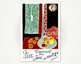 Henri Matisse Poster Print - Nice, Travail et Joie - Matisse Travel Poster Art