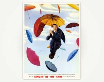 Singin' in the Rain Vintage Movie Poster Print - Classic Film Poster Art