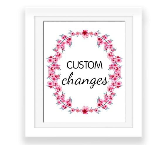 Cheap Design Changes That Have: Custom Changes Font Change Size Change