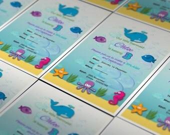 Under The Sea Birthday Invitation | Special Occasion | Invitation | Custom Invitation | Digital | Personal Design | Event Invitation