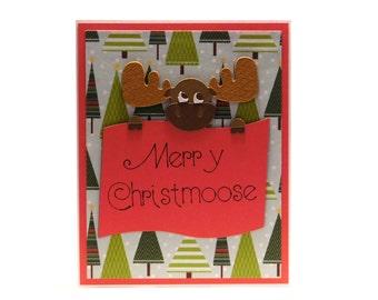 Merry Christmoose- Blank inside