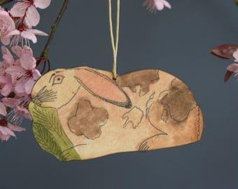 Rabbit hanging decoration