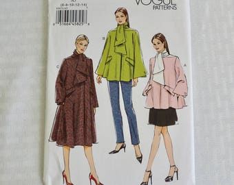 Vogue V9071 Size 6-14 Misses Loose Fitting Lined Coat in 3 Lengths Dress Sewing Pattern  / UNCUT Factory Folded
