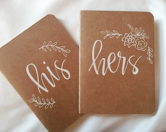 Personalized His/Hers Vow Small Journals