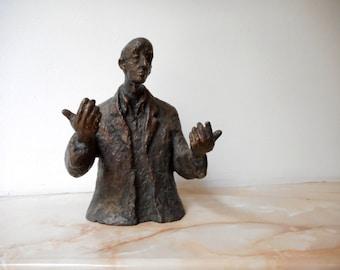 Home sculpture, Мodern sculpture, Bronze sculpture, Bronze statue of Public speaker  , Limited edition, Small sculptural plastic