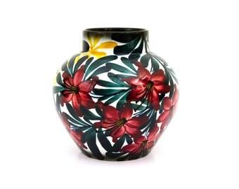 Schramberg SMF Hand Painted German 8 Inch Vase