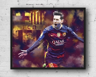 Lionel Messi Barcelona poster, Messi poster, Barcelona poster, Barcelona fc, Lionel Messi print, Football poster, Messi print