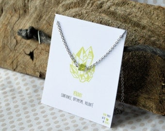 Peridot necklace stainless steel