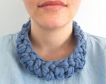 Handmade textile necklace