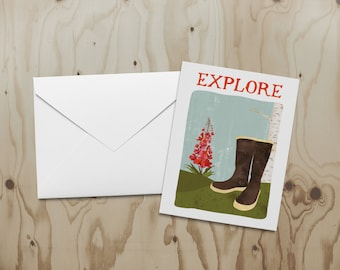 Explore with Fireweed Note Card