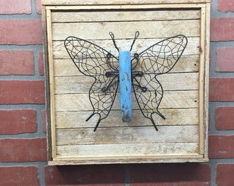 Butterfly, Rustic Butterfly, Butterfly Decor, Butterfly Wall Art