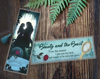 Beauty and the Beast Bookmark - Handmade