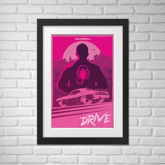 Drive Movie Poster Illustration / Drive Movie Poster / Movie Poster / Drive