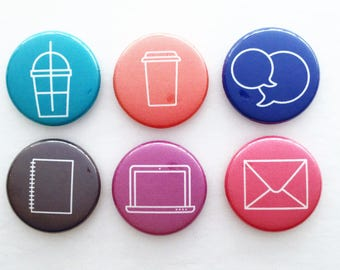 Set of 6 Flair Badges {Conversation Icons}