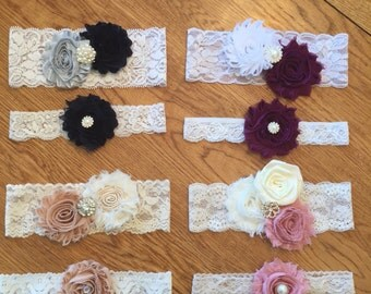 Custom Lace Wedding Bridal Garter Set