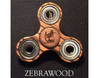 Wooden Fidget Spinner - Zebrawood
