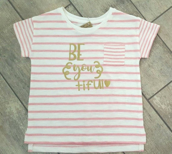 Be You Tiful - Valentines - girl toddler boyfriend fit shirt - ONE OF A Kind - child / baby accessories - size 4T