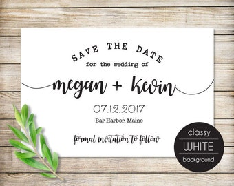 Printable Save the Date Card, Minimalist Save the Date Invitation Printable,  Calligraphy Save the Date Printable, DIY Save the Date Card 14