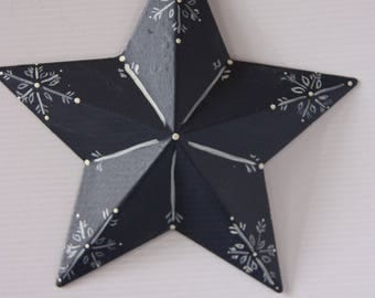 Christmas ornament, Metal star ornament, Christmas star ornament, Xmas ornament, star, snowflake ornament, snowflake