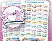 40 Cute Sewing Machine/Sewing/Craft Stickers, Filofax, Erin Condren, Happy Planner, Kawaii, Cute Sticker, UK