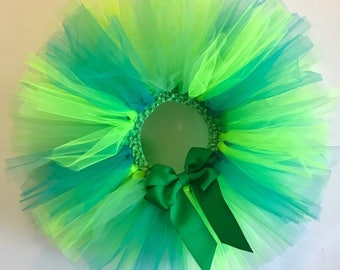 First Birthday Tutu - Girls Tutu - Baby Tutu - Newborn Tutu - Cake Smash Tutu - Birthday Tutu - Green Tutu - Emerald Tutu
