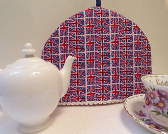 Teapot Cosy, British style cosy, Union Jack flags, small teapot, cozy, cosy, teatime cosy