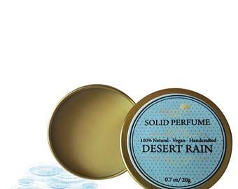 Desert Rain Solid Perfume, Organic Desert Rain Perfume Bar, Vegan Perfume, Natural Perfume, Gift Idea