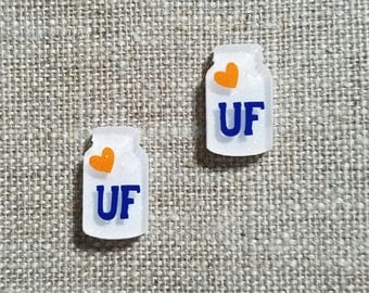 University of Florida Mason Jar Earrings