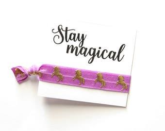 Stay Magical Unicorn Hair Tie Favor | Unicorn Hair Tie Favor | Unicorns | Birthday Favor