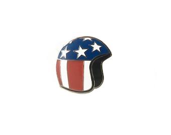Easy Rider Motorcycle Helmet Enamel Pin