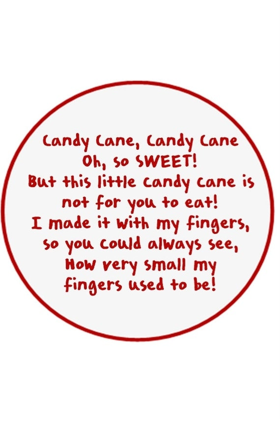 It's just an image of Effortless Candy Cane Poem Printable