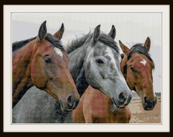 Horse Cross Stitch Pattern - Horse - Barn - Pony - PDF Download