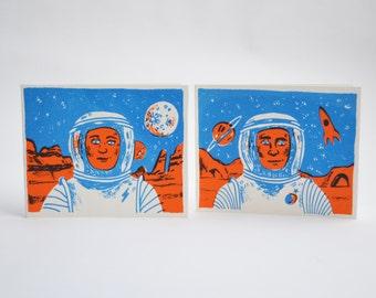 Astronaut Mini-Greetings Cards