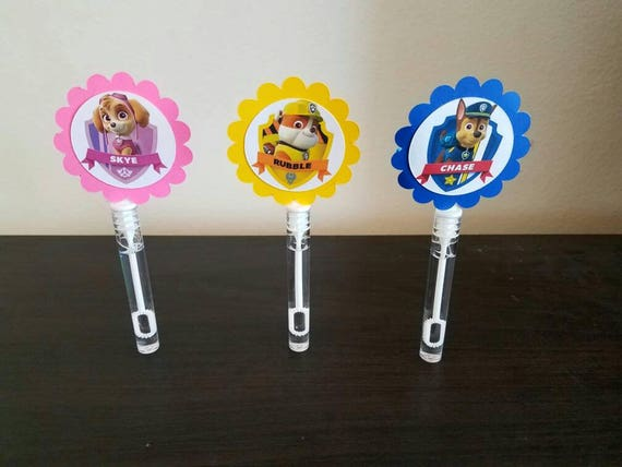 Paw patrol birthday paw patrol mini bubble wands paw for Mini bubble wands