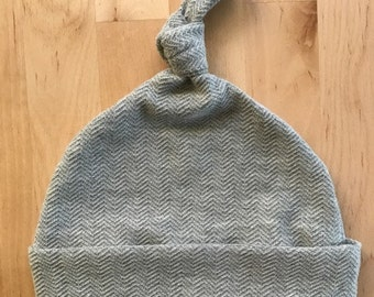 Baby Hat, Hat, Knot Hat, Knotted Hat, Newborn Hat, Gray Hat