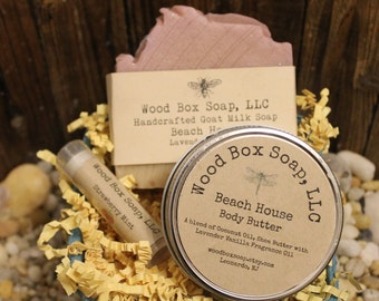 Women's Soap Set. Skin Care Set. Handmade Soap Set. Goat Milk Soap Set. Gifts For Her. Soap. Body Butter. Lip Balm.