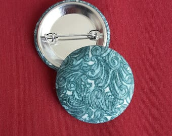 Turquoise Cloth Pin-Back Buttons