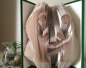 Folded Book Art - Panda
