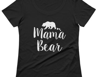 Mama Bear Shirt  - mama bear t shirt, mama bear tshirt, mama bear tee, gift for new mom, mama bear v neck